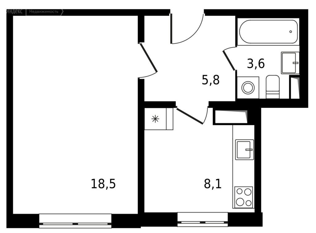 1-комнатная квартира в ЖК Семеновский парк